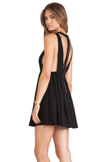 Cut Out Dress in Black