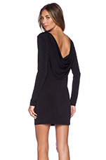 Cowl Back Mini Dress in Black