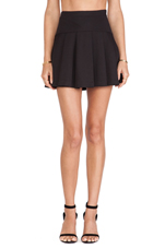 Flared Pleated Skirt in Black