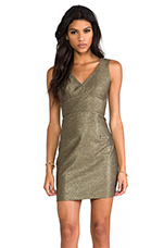 Vera Mini Dress in Burnished Gold