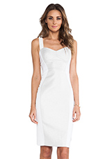 Breanna Dress in Optic White & Silver