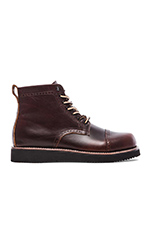 Aaron Perforated Boot in Red Brown Chromexcel