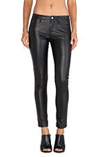 Vegan Leather Skinny in Blacked Out