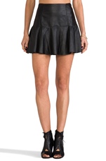 Leather Skirt in Blacked Out