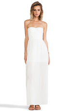 Sweetheart Maxi Dress in Ivory