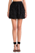 Lace Circle Skirt in Black