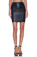 Leatherette Skirt in Black