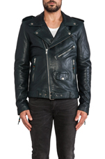 Leather Jacket 5 in Emerald Blue