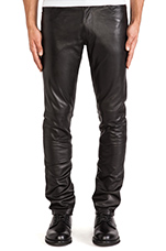 Leather Pant 25 in Black