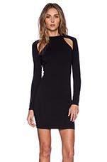 Long Sleeve Cut Out Dress in Black