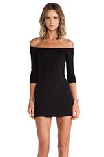 Off The Shoulder Mini Dress in Black