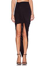 Wrap Maxi Skirt in Black