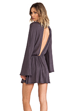 Free Spirit Dress in Faded Black