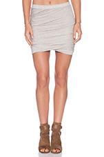 Twist Skirt in Pebble Heather