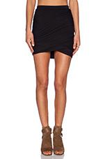 Twist Skirt in Black