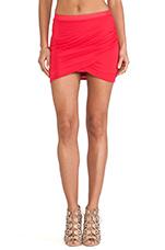 Tulip Mini Skirt in Rouge