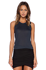 High Low Muscle Tank in Slate