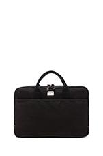 No. 332 Attache Case in Black Wax W/ Black