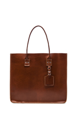 No. 235 Leather Tote in Tan