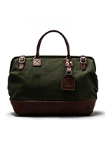 No. 165 Medium Carryall in Olive/Brown