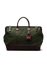 No. 166 Large Carryall in Olive With Brown