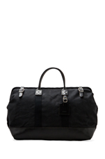 No. 166 Large Carryall in Black Wax/ Black