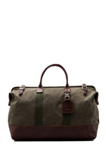 No. 166 Large Carryall in Olive Wax/ Brown