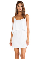 Jersey Layered Dress in White