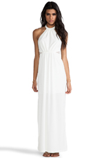 BLACK LABEL Maxi Halter Dress in Ivory