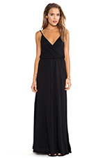 Modal Jersey V-Neck Tank Maxi Dress in Black