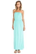 Supreme Jersey Strapless Maxi Dress in Aqua