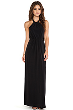 BLACK LABEL Maxi Halter Dress in Black