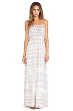 Light Weight Jersey Strapless Maxi Dress in Shore