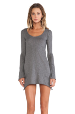 Jersey Asymmetrical Dress in Dark Heather