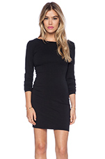 Spandex Low Back Mini Dress in Black