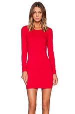 Spandex Low Back Mini Dress in Deep Red
