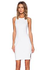 Spandex Tank Midi Dress in White