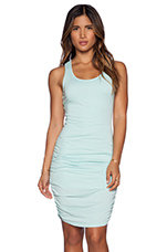 Modal Jersey Ruched Dress in Bubble Blue