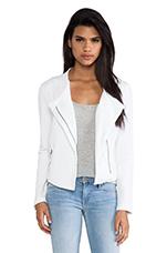 Moto Jacket in White