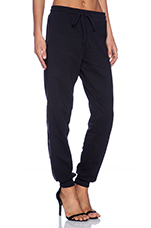 Cashmere Terry Sweatpant in Black