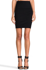 Ponte Skirt in Black