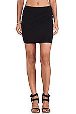 Cotton Mini Skirt in Black