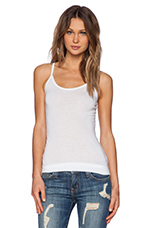 Light Weight Jersey Cami in White