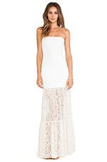 Stella Maxi Dress in Lace White