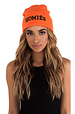 Homies Unisex Beanie in Orange/Black
