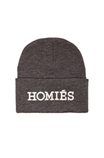 Homies Beanie in Charcoal/Silver