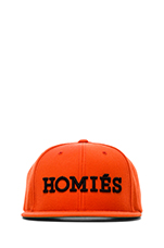 Homies Embroidered Caps in Orange/Black