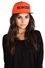 Homies Embroidered Caps in Orange/Black
