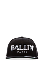 Ballin Cap in Black/White