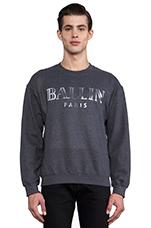 Ballin Sweatshirt in Charcoal/Silver Foil